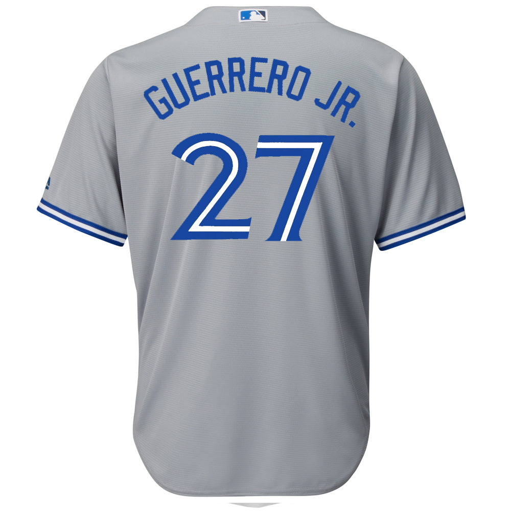 3b2b4872337 MAJESTIC MEN S TORONTO BLUE JAYS GUERRERO JR. ROAD JERSEY GREY ...