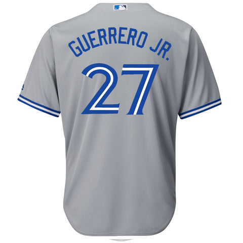 MAJESTIC MEN'S TORONTO BLUE JAYS GUERRERO JR. ROAD JERSEY GREY