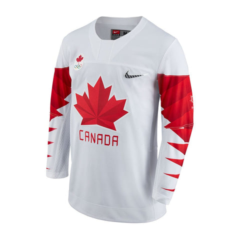 NIKE MEN'S TEAM CANADA OLYMPIC JERSEY WHITE