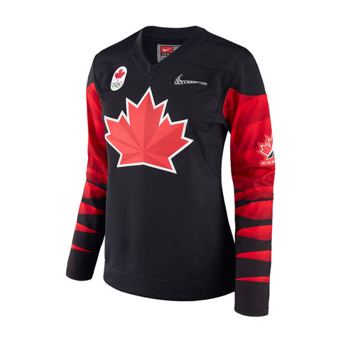 NIKE WOMEN'S TEAM CANADA OLYMPIC FAN JERSEY BLACK