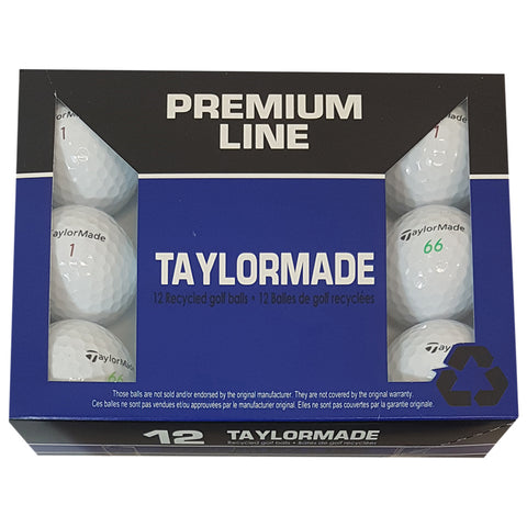 TAYLORMADE PREMIUM LINE RECYCLED GOLF BALLS 12 PACK