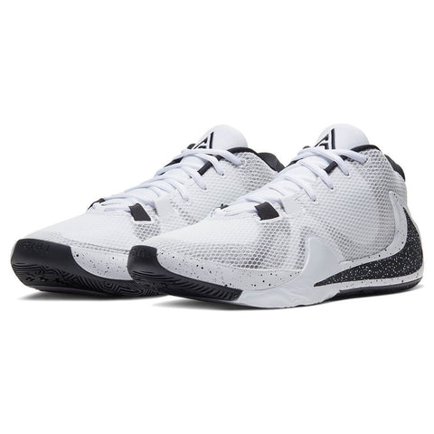 NIKE MEN'S ZOOM FREAK 1 BASKETBALL SHOE WHITE/WHITE/BLACK