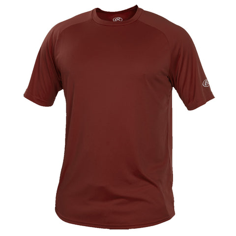 RAWLINGS MEN'S SHORT SLEEVE CREW TOP CARDINAL