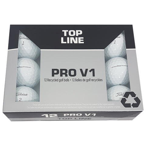 TITLEIST PRO V1 PRO LINE RECYCLED GOLF BALLS 12 PACK