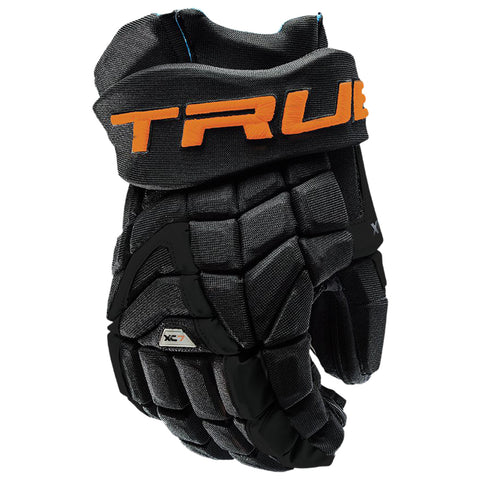 TRUE XC7 PRO Z-PALM JR HOCKEY GLOVES BLACK/GOLD