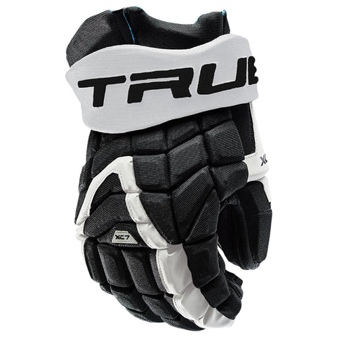TRUE XC7 PRO Z-PALM JR HOCKEY GLOVES BLACK/WHITE