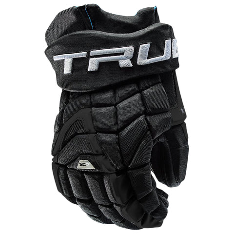 TRUE XC7 PRO Z-PALM JR HOCKEY GLOVES BLACK