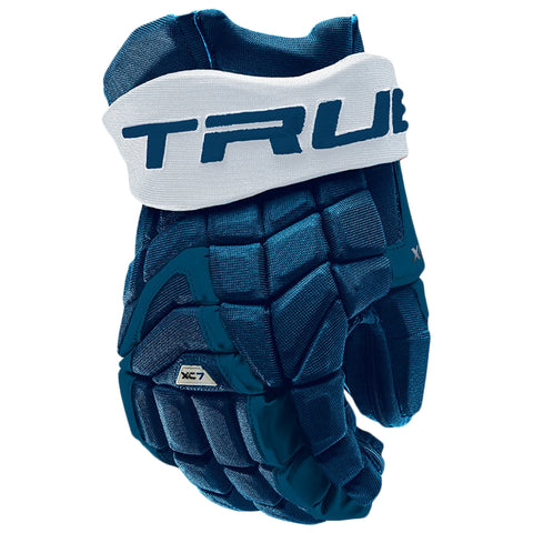 TRUE XC7 PRO Z-PALM JR HOCKEY GLOVES ROYAL/WHITE