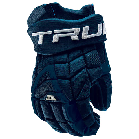 TRUE XC7 PRO Z-PALM JR HOCKEY GLOVES NAVY