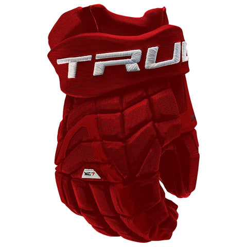TRUE XC7 PRO Z-PALM JR HOCKEY GLOVES RED