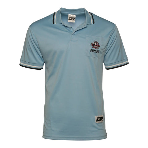 DR BASEBALL ONTARIO OFFICIAL UMPIRE SHIRT POWDER BLUE SMALL