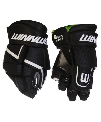 WINNWELL AMP 500 YTH HOCKEY GLOVES BLACK