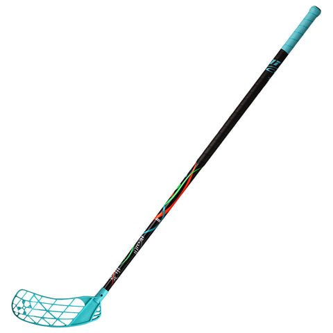ACCUFLI XORO Z100 FLOORBALL STICK LEFT TEAL