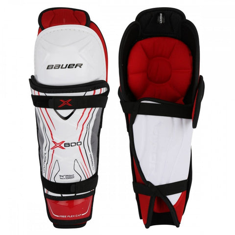 BAUER VAPOR X800 JR SHIN GUARDS 12 INCH