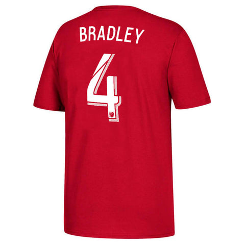 ADIDAS MEN'S TFC PLAYER TOP BRADLEY 4 RED