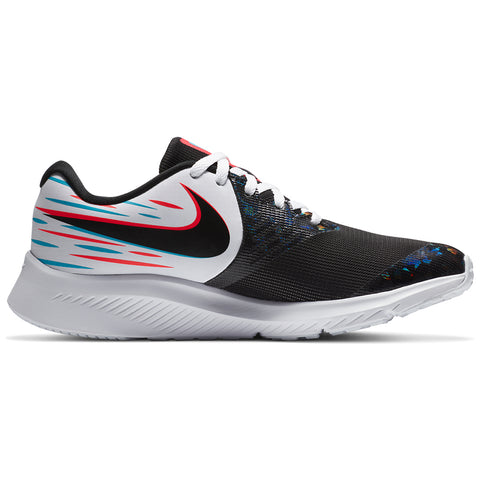 NIKE GIRLS GRADE SCHOOL STAR RUNNER 2 KIDS SHOE LIGHT WHITE/BLACK/BLUE/CRIMSON