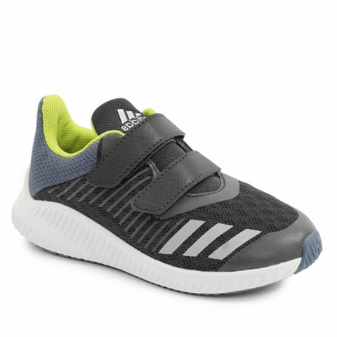 ADIDAS BOYS PRE-SCHOOL FORTARUN CF CARBON/SILVER/YELLOW