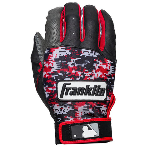 FRANKLIN YOUTH BATTING GLOVE DIGITEK RED DIGITAL