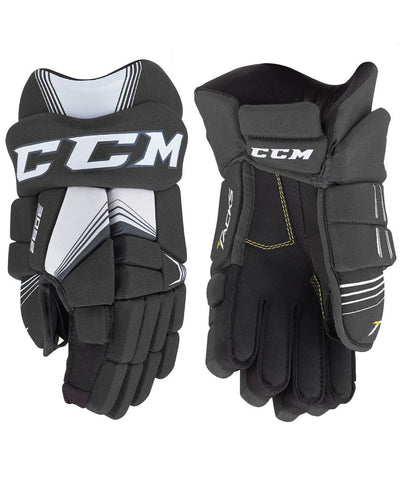 CCM TACKS 3092 JR HOCKEY GLOVES BLACK
