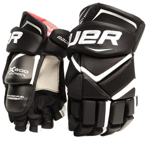 BAUER VAPOR X800 SR HOCKEY GLOVES 14 INCH BLACK
