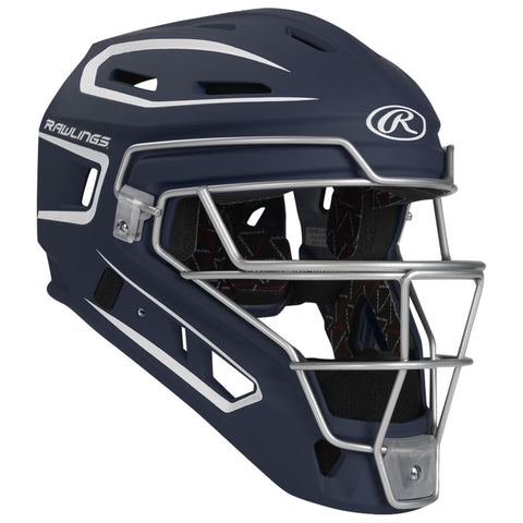 RAWLINGS YOUTH VELO 2.0 NAVY/WHITE CATCHER HELMET