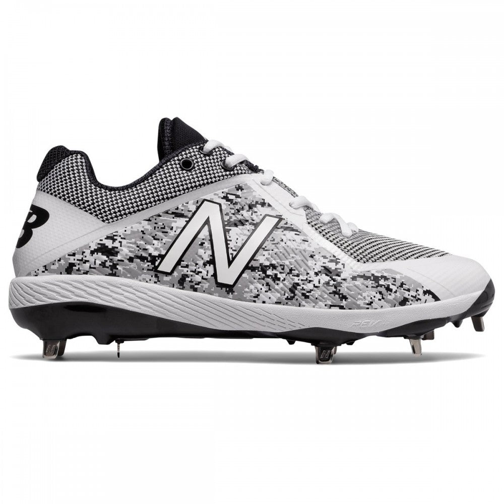 2f7a5be4 NEW BALANCE MEN'S L4040V4 LOW WHITE/CAMOUFLAGE DP METAL BASEBALL CLEAT