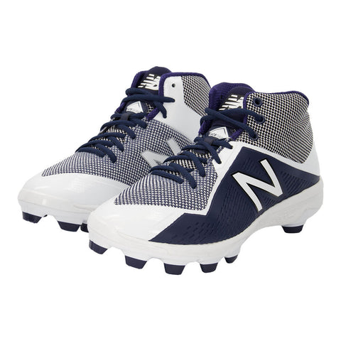 NEW BALANCE MEN'S 4040 TPU WIDTH D BASEBALL CLEAT NAVY/WHITE