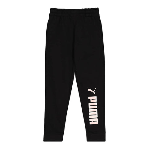 PUMA GIRL'S NO.1 LOGO PACK JOGGERS BLACK/ CRYSTAL ROSE