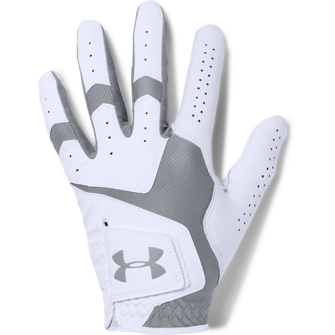 UNDER ARMOUR COOLSWITCH MEN'S GOLF GLOVE RIGHT WHITE/STEEL/STEEL