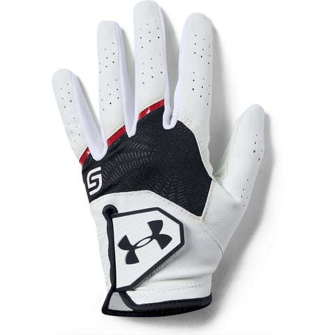 UNDER ARMOUR COOLSWITCH YOUTH GOLF GLOVE RIGHT WHITE/RED/BLACK
