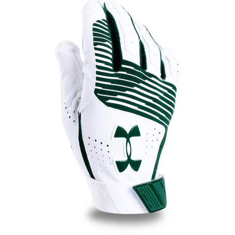 UNDER ARMOUR CLEAN UP GREEN/WHITE BATTING GLOVES