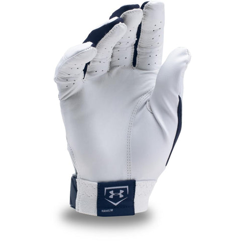 UNDER ARMOUR CLEAN UP NAVY/WHITE BATTING GLOVES