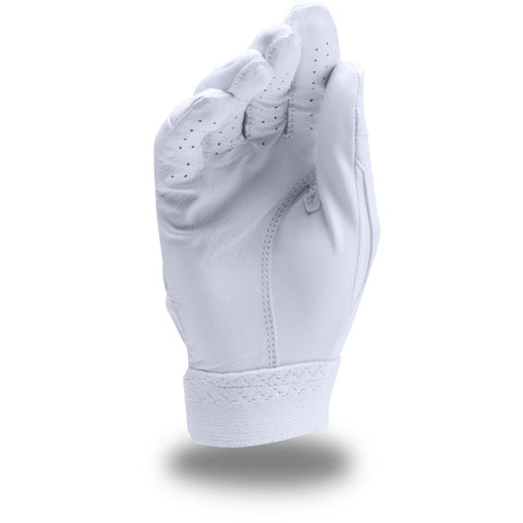 UNDER ARMOUR YOUTH CLEAN UP WHITE/WHITE BATTING GLOVES