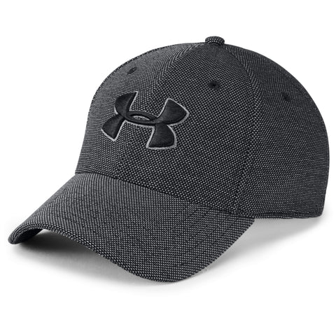UNDER ARMOUR MEN'S HEATHERED BLITZING 3.0 CAP BLACK