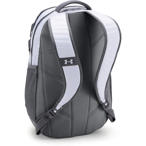 UNDER ARMOUR TEAM HUSTLE 3.0 BACKPACK WHT/GRY