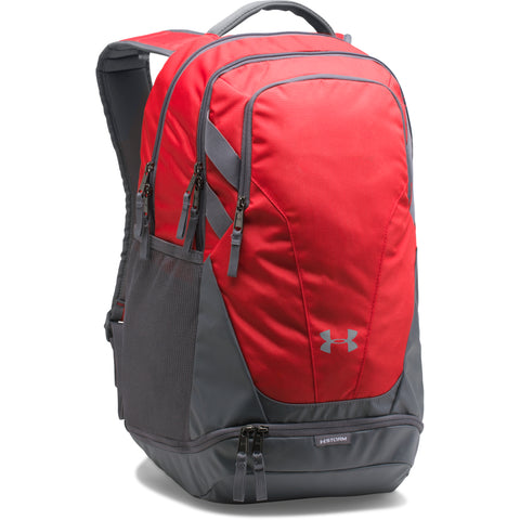UNDER ARMOUR TEAM HUSTLE 3.0 BACKPACK RED/GRY