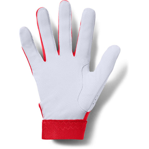 UNDER ARMOUR 2019 YOUTH CLEAN-UP RED BATTING GLOVE