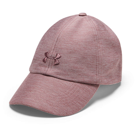 UNDER ARMOUR WOMEN'S HEATHERED PLAY UP CAP HUSHED PINK