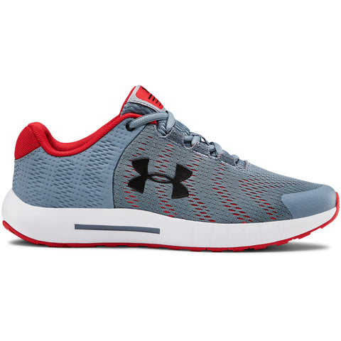 UNDER ARMOUR BOYS GRADE SCHOOL PURSUIT BP KIDS SHOE GREY/WHITE/BLACK