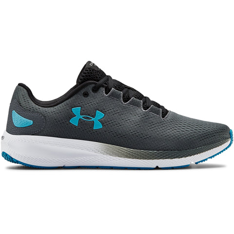 UNDER ARMOUR MEN'S CHARGED PURSUIT 2 RUNNING SHOE GREY/WHITE/ESCAPE