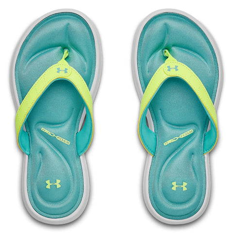 UNDER ARMOUR GIRLS MARBELLA VII THONG WHITE/X-RAY/BLUE HAZE