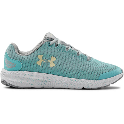 UNDER ARMOUR GIRLS GRADE SCHOOL CHARGED PURSUIT 2 KIDS SHOE BLUE/GREY/YELLOW