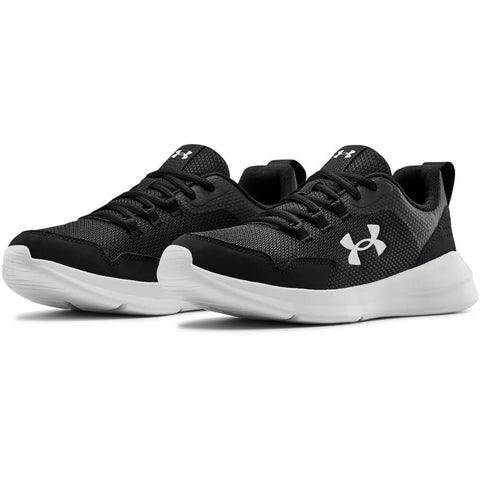 UNDER ARMOUR BOYS GRADE SCHOOL ESSENTIAL KIDS SHOE BLACK/WHITE/WHITE