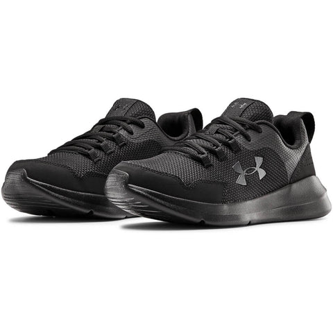 UNDER ARMOUR BOYS GRADE SCHOOL ESSENTIAL PITCH KIDS SHOE BLACK/BLACK/BLACK