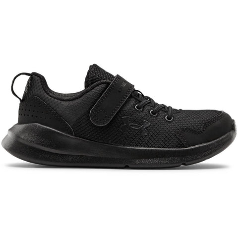 UNDER ARMOUR BOYS PRE-SCHOOL ESSENTIAL KIDS SHOE BLACK/BLACK/BLACK