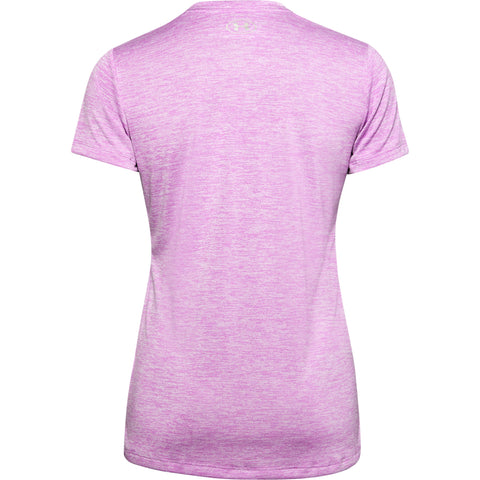 UNDER ARMOUR WOMEN'S TECH SHORT SLEEVE VNECK TWIST POLAR PURPLE