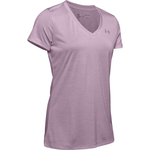 UNDER ARMOUR WOMEN'S TECH TWIST SHORT SLEEVE PINK FOG