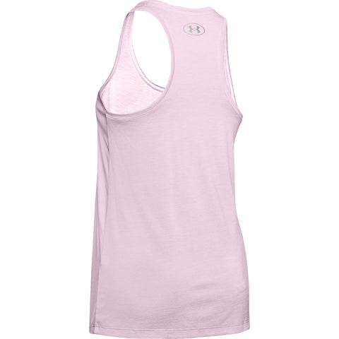 UNDER ARMOUR WOMEN'S TECH TANK TWIST PINK FOG