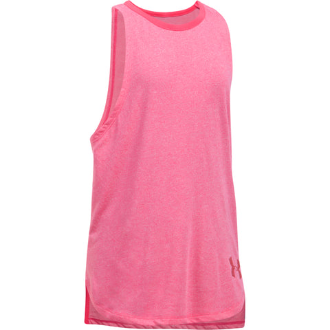 UNDER ARMOUR GIRL'S THREADBORNE PLAY UP TANK PINK