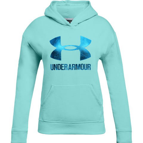 UNDER ARMOUR GIRL'S THREADBORNE FLEECE HOODY BLUE INFINITY